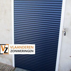 Afbeelding: Rolluik voor een deur met sleutel, inbraakpreventie
