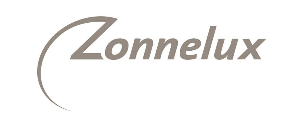 Logo Zonnelux, leverancier binnenzonwering en raamdecoratie